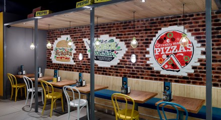 Awesome Pizza Restaurant Interior Design Ideas Gallery   Amazing .