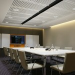 Vtec Supacoustic ceilings finished in gloss white in London-Hotel - 4