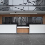 Bespoke-Groove-In-Gloss-Metallic-Black-For-Reception-Wall-And-Ballustrade-Front