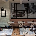 London-Brick-White-Texture Panels For-Patisserie-In-Covent-Garden-London 2