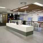 supaslat-5-screw-fix-panels-redwood-with-light-stain-for-london-office-reception-and-break-out-area