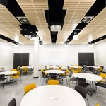 Vtec supacoustic panels_in_birch_fr_supalami_for_ceiling_of_kingston_university_teaching_labs-6