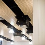 Vtec supacoustic panels_in_birch_fr_supalami_for_ceiling_of_kingston_university_teaching_labs-8