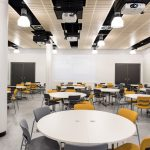 Vtec supacoustic panels_in_birch_fr_supalami_for_ceiling_of_kingston_university_teaching_labs-5