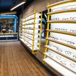 Vtec Rough Concrete Texture Wall Panels in Optician Store 2