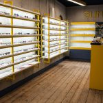 Vtec Rough Concrete Texture Wall Panels in Optician Store 1