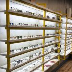 Vtec Rough Concrete Texture Wall Panels in Optician Store