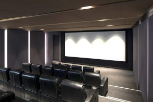 Luxury Soft Acoustic Panels for a cinema - photo facing the screen