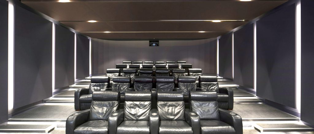 Vtec Acoustic Soft Panels in a Cinema