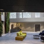 Vtec Slatted Timber Ceiling Supaslat 4 Class A Office building -1