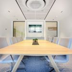 Vtec Supacoustic Ceilings in Laminate Finish in a Sleek Modern Office -  3