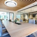 Vtec Timber Slatted Ceilings Supaslat 3 in South Coast Offices-12