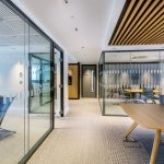 Vtec Timber Slatted Ceilings Supaslat 3 in South Coast Offices-16