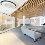 Vtec Timber Slatted Ceilings Supaslat 3 in South Coast Offices-17