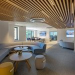 Vtec Timber Slatted Ceilings Supaslat 3 in South Coast Offices-18
