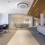 Vtec Timber Slatted Ceilings Supaslat 3 in South Coast Offices-21