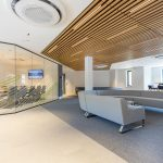 Vtec Timber Slatted Ceilings Supaslat 3 in South Coast Offices-22