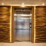 Vtec Stacked Timber Brown Panel - Residential Development Lobby Design -4
