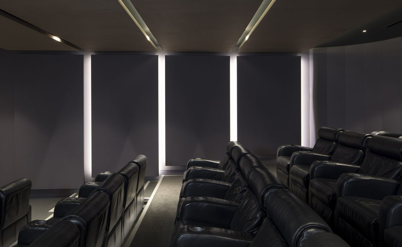 Soft Acoustic Panels in a Cinema