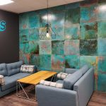 Feature wall in Vtec Metal Verdigris Brass -2