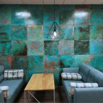 Feature wall in Vtec Metal Verdigris Brass -3