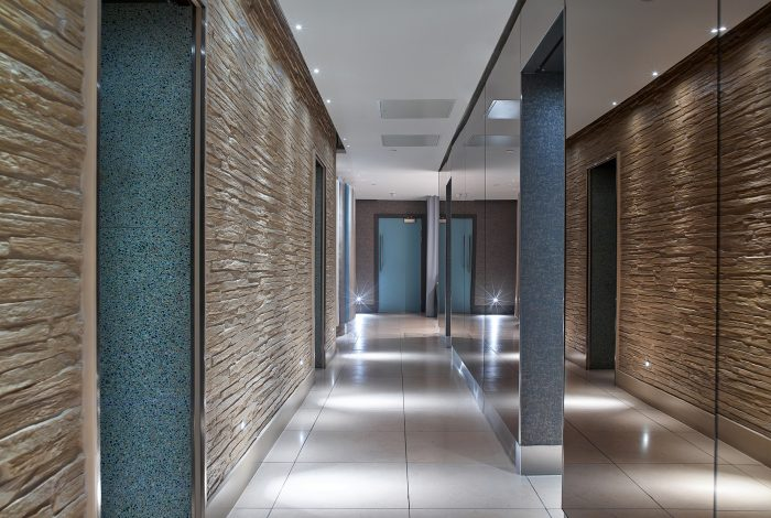Vtec's Strip Stone Wall Panels at a 5 star hotel in Edinburgh