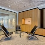 Vtec Supacoustic Ceilings in Laminate Finish in a Sleek Modern Office -  6