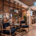 Vtec Timber Slatted Ceilings Supaslat 3 in Gatwick Lounge-2
