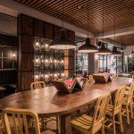 Vtec Timber Slatted Ceilings Supaslat 3 in Gatwick Lounge-4