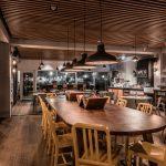 Vtec Timber Slatted Ceilings Supaslat 3 in Gatwick Lounge-5