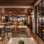 Vtec Timber Slatted Ceilings Supaslat 3 in Gatwick Lounge-7
