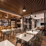 Vtec Timber Slatted Ceilings Supaslat 3 in Gatwick Lounge-8