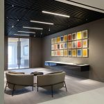 Canary Warf Offices - Supaslat 5 - Solid Timber Slat Ceilings -Black Laquer - 12