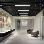 Canary Warf Offices - Supaslat 5 - Solid Timber Slat Ceilings -Black Laquer - 7