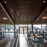 supaslat-acoustic slatted-timber-ceiling-in a charity hq