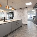 Vtec London Brick Distressed White Wall Panels Office Kitchen Area -3
