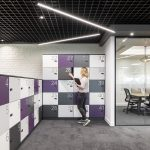 Vtec London Brick White Wall Panels Office Agile Working Area