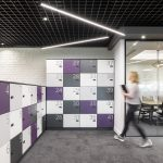 Vtec London Brick White Wall Panels Office Agile Working Area -2