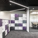 Vtec London Brick White Wall Panels Office Agile Working Area -3
