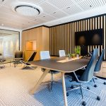 Vtec Supacoustic Ceilings in Laminate Finish in a Sleek Modern Office -  2