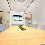 Vtec Supacoustic Ceilings in Laminate Finish in a Sleek Modern Office -  4