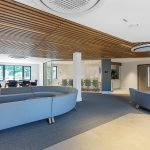 Vtec Timber Slatted Ceilings Supaslat 3 in South Coast Offices-2