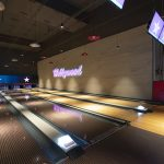 Vtec Rough Concrete Wall Texture Panels in Hollywood Bowling 1