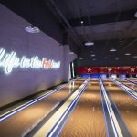 Vtec Rough Concrete Wall Texture Panels in Hollywood Bowling 17