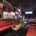Vtec Rough Concrete Wall Texture Panels in Hollywood Bowling 4
