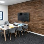 Stacked-Timber-Brown-Vtec-Texture-Wall-Panels-for-Blake-Office-Boardoom