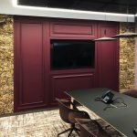 Boardroom Wall in Vtec Raw Bark panels
