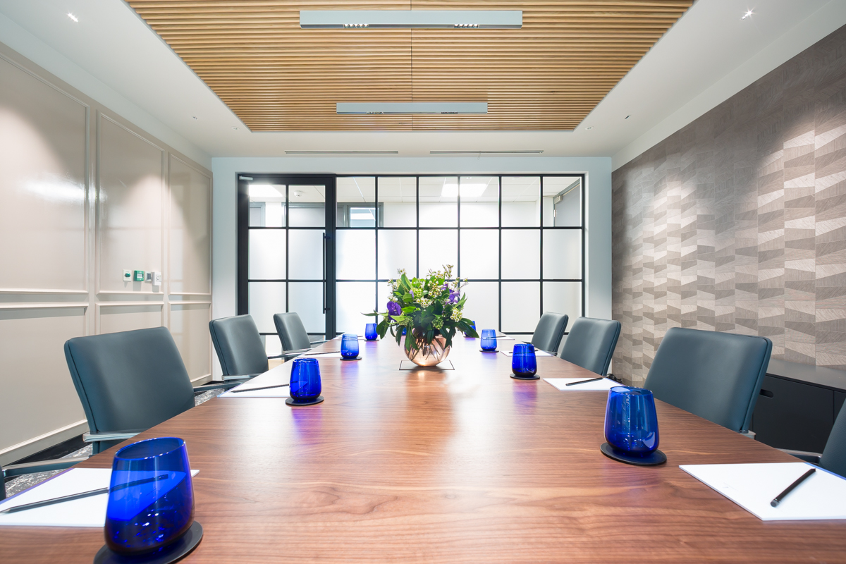 SupaSlat Timber Slatted Ceiling in a Boardroom