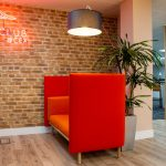 London Brick Wall Panels Sandy Brown Office 1